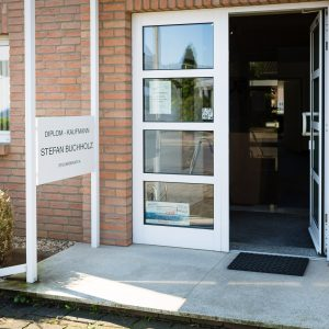 Eingangbereich der Steuerkanzlei Buchholz in Wesseling